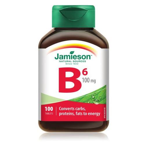 Jamieson Vitamin B6 100mg - 100 Tablets -  JM-1081-001