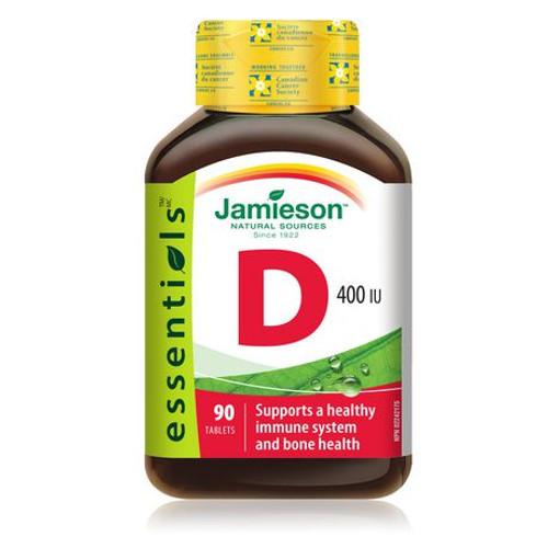Jamieson Vitamin D 400 IU  90 Tablets | UPC 064642024299