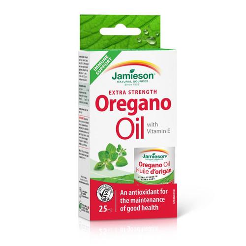 Jamieson Extra Strength Oregano Oil with Vitamin E 25 mL   UPC 064642078261