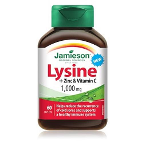 Jamieson Lysine + Zinc and Vitamin C 60 Caplets | UPC 064642079923