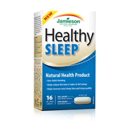 Jamieson Healthy Sleep Bi-Layer 16 Caplets   UPC 064642077981