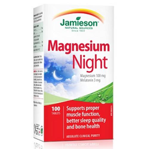 Jamieson Magnesium Night 100 Tablets -  JM6717-3
