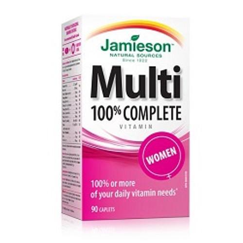 Jamieson 100% Complete Multivitamin for Women 90 Caplets | UPC 064642078681