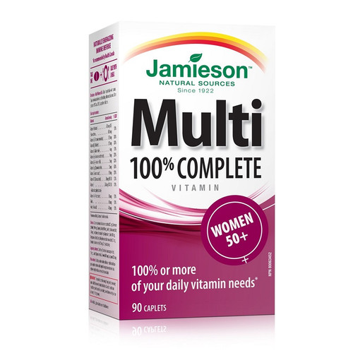 Jamieson 100% Complete Multivitamin for Women 50+ 90 Caplets -  JM-1049-001