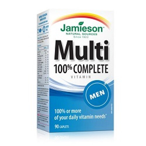 Jamieson 100% Complete Multivitamin for Men 90 Caplets | UPC 064642078704