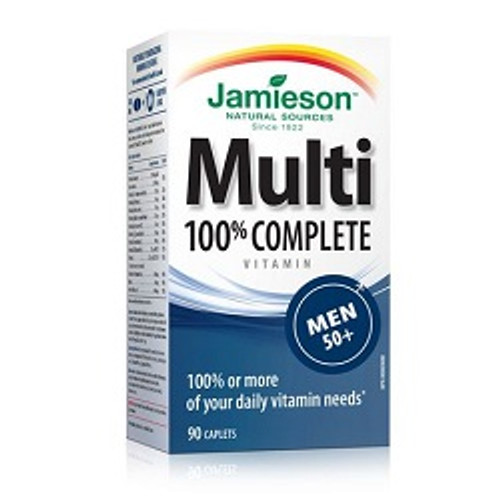Jamieson 100% Complete Multivitamin for Men 50+ 90 Caplets | UPC 064642078711