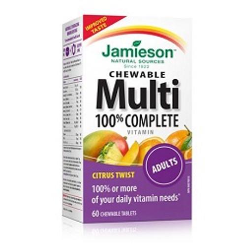 Jamieson Chewable Multi 100% Complete vitamin Citrus Twist 60 Chew Tablets -  JM-1055-001