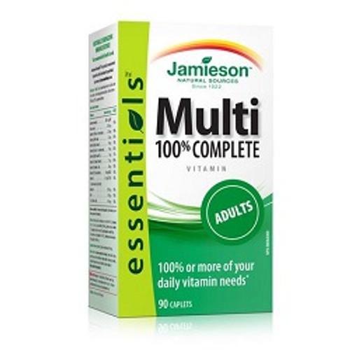 Jamieson 100% Complete Multi Adult 90 Caplets | UPC 064642078728