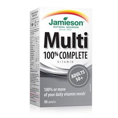 Jamieson 100% Complete Multi Adult 50+ 90 Caplets -  JM-1048-001