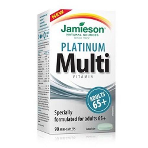 Jamieson Platinum Multi Vitamin for Adult 65+ 90 Mini-Caplets | UPC 064642090515