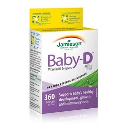 Jamieson Baby-D Vitamin D3 400IU Droplets 11.7ml -  JM-1070-001