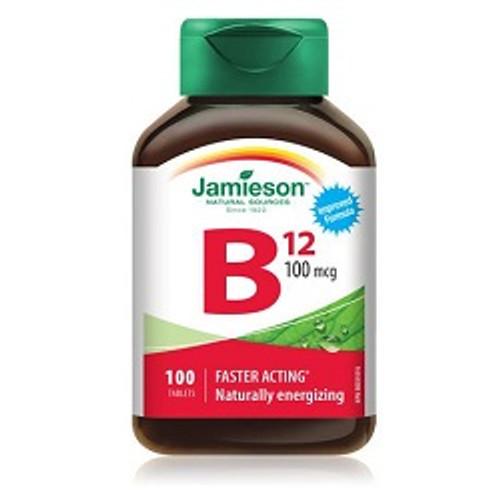Jamieson Vitamin B12 100mcg 100 Tablets -  JM-1084-001