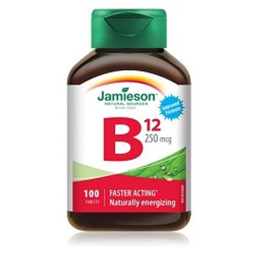 Jamieson Vitamin B12 250mcg 100 Tablets | UPC 064642020697