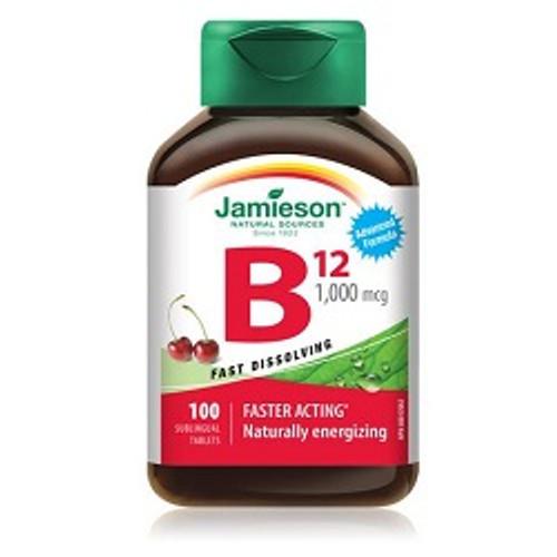 Jamieson Vitamin B12 1000mcg Sublingual 100 Tablets -  JM-1093-001