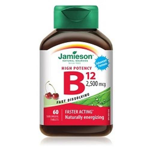 Jamieson Vitamin B12 2500mcg 60 Tablets | UPC 064642074775