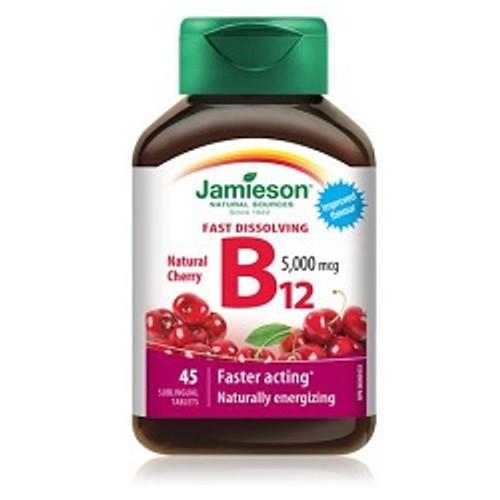 Jamieson 5x Stronger Vitamin B12 5000mcg 45 sublingual Tablets -  JM-1101-001