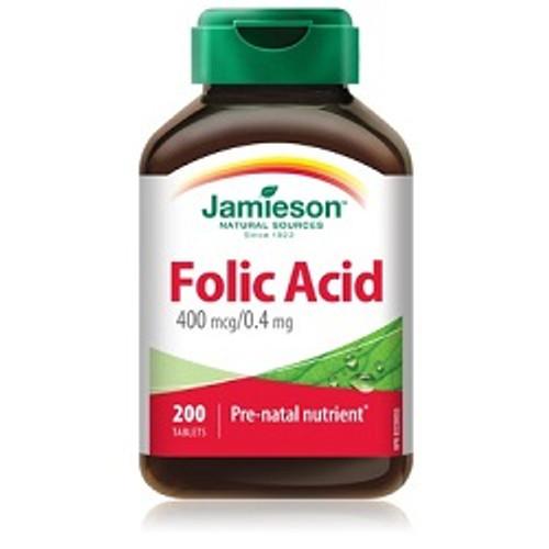 Jamieson Folic Acid 400mg 200 Tablets | UPC 064642027658