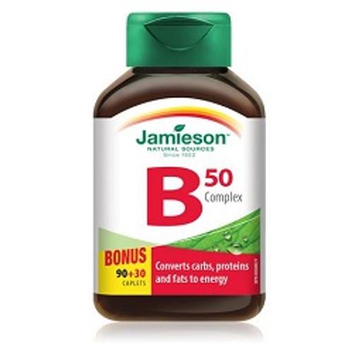 Jamieson B Complex 50mg 90+30 Caplets   UPC 064642048851