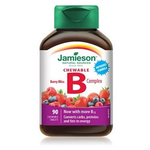 Jamieson B Complex Chewable 25mg 90 Tablets | UPC 064642065995