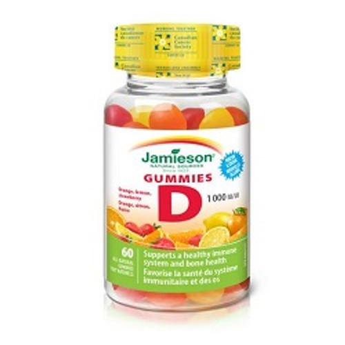 Jamieson Vitamin D 1000 IU 60 Gummies -  JM-1072-001