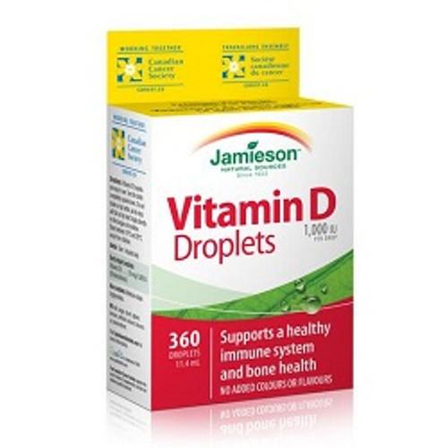 Jamieson Vitamin D 1000 IU Droplets 11.4ml | UPC 064642070340