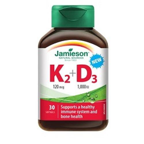 Jamieson Vitamin K2 + D3 - 30 Softgels -  JM9043