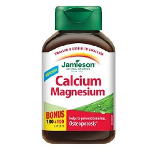 Jamieson Calcium + Magnesium Bonus 100+100 Caplets | UPC 064642026736