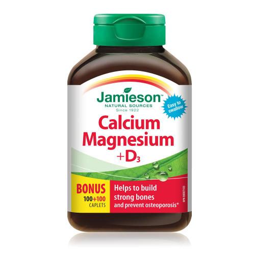 Jamieson Calcium 500mg + Vitamin D3 1,000 IU 90 Caplets -  JM6116