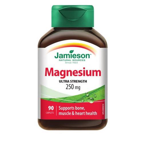 Jamieson Magnesium 250mg 90 Caplets   UPC 064642027078