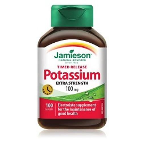 Jamieson Timed Release Potassium 100mg 100 Caplets -  JM2137