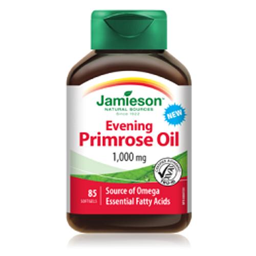 Jamieson Evening Primrose Oil 1000mg 85 Softgels | UPC 064642090331