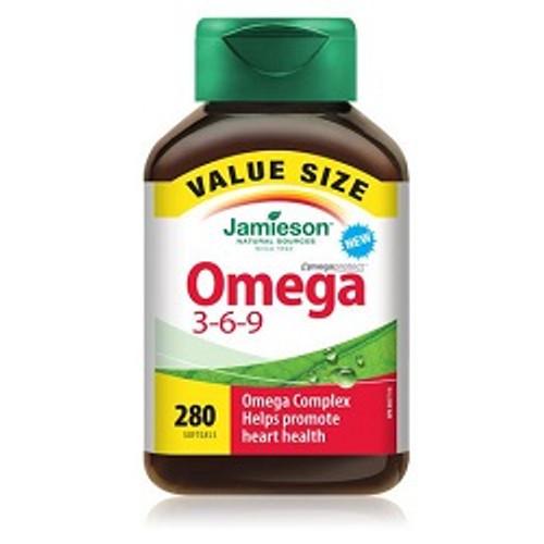 Jamieson Omega 3-6-9 Value Size 280 Softgels -  JM9038