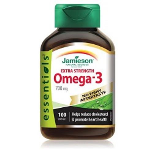 Jamieson Extra Strength Omega-3 No Fishy Aftertaste 100 Softgels -  JM-1162-001