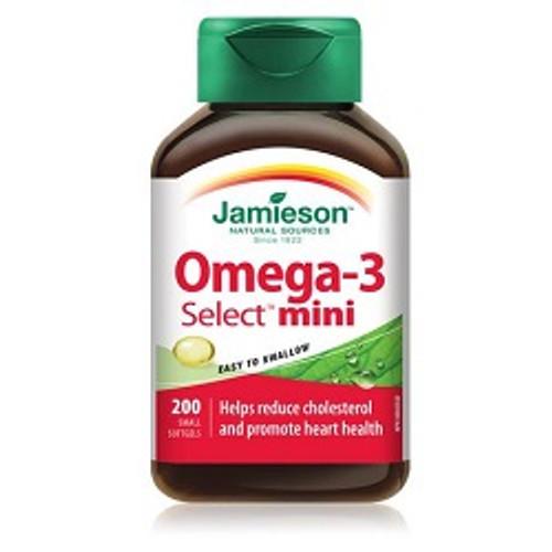 Jamieson Omega-3 Select Mini 200 Softgels | UPC 064642073556
