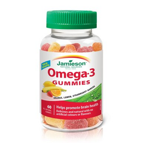 Jamieson Omega 3 - 60 Gummies   7490   064642074904