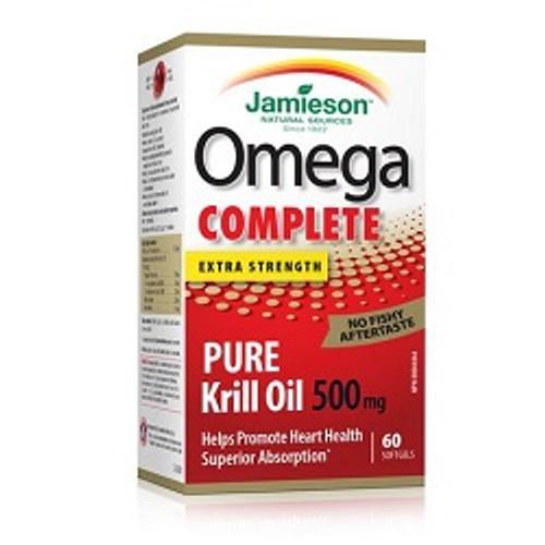 Jamieson Omega Complete Extra Strength Krill Oil 500mg -  JM-1160