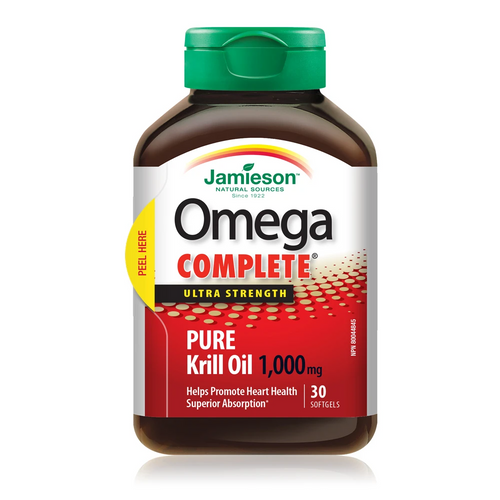 Omega Complete Ultra Strength Pure Krill Oil 1000mg - 30 Softgels -  JM-1159-001