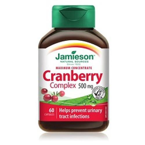 Jamieson Maximum Concentrate Cranberry Complex 500mg 60 Capsules -  JM-1142-001