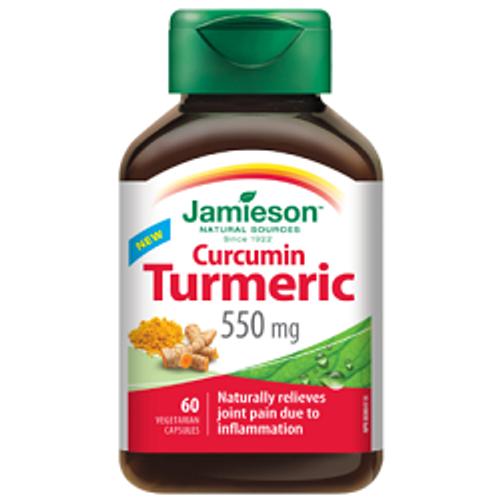 Jamieson Curcumin Turmeric 550mg - 60 Capsules | UPC 064642078896