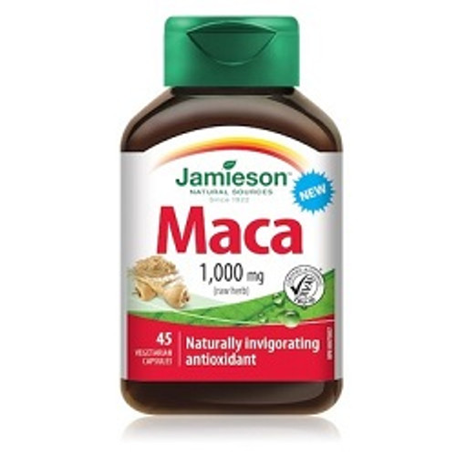 Jamieson Maca 1000mg 45 Capsules | UPC 064642079978