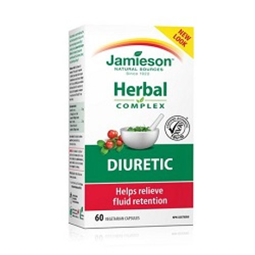 Jamieson Herbal Diuretic 60 Capsules | UPC 064642025852