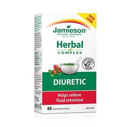 Jamieson Diuretic Herbal Complex with UVA Ursi 60 vegetarian capsules   UPC 064642025852