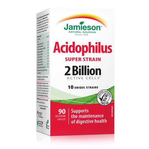Jamieson Acidophilus Super Strain 2 Billion 90 Capsules | UPC 064642090157