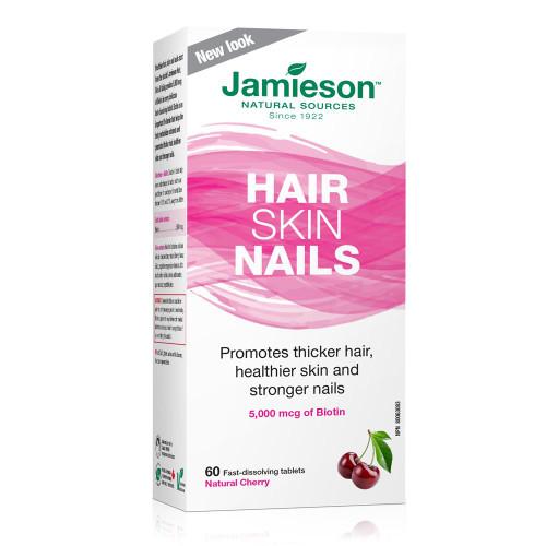 Jamieson Hair Skin Nails - 60 Fast Dissolving Tablets Natural Cherry   UPC 064642079329