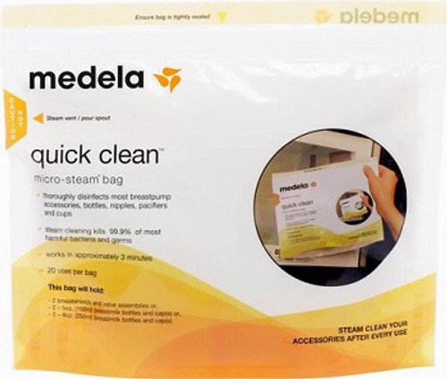 Medela Quick Clean Micro Steam Bags 5 Pack | UPC 020451270265