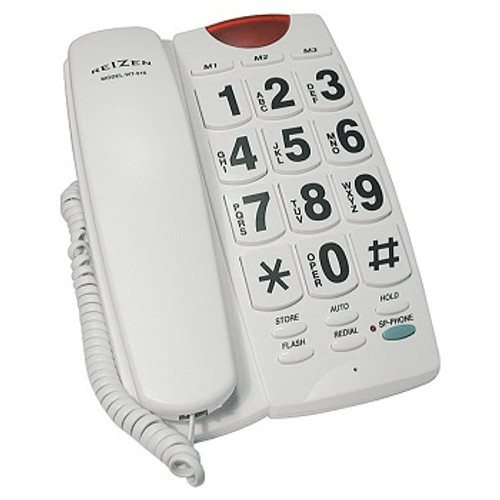 MaxiAids Reizen Big Button Speaker Phone - white with black numbers | UPC 612750925450