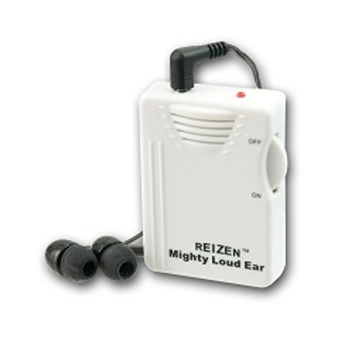 MaxiAids Reizen Mighty Loud Ear - Personal Sound Hearing Amplifier   UPC 612750907074