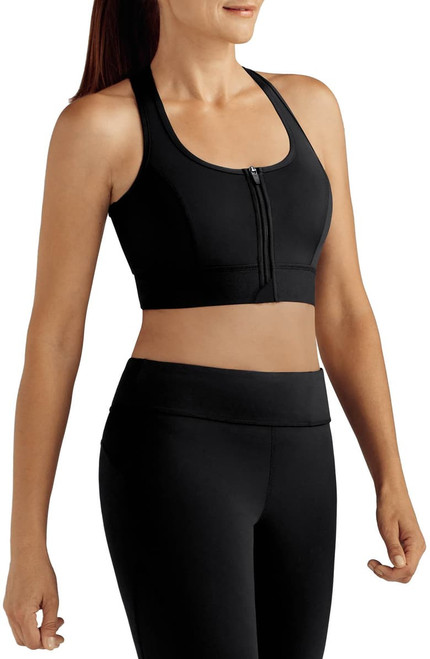 Amoena Zipper Sports Bra with pockets for breast form or shaper