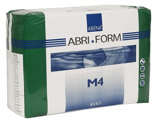 Abena Abri-Form Comfort Adult Briefs - Plastic Backing Medium M4 | UPC 5703538126536 | 14 Count