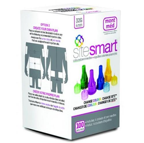 Montmed SiteSmart Coloured Pen Needles   UPC 834094001304